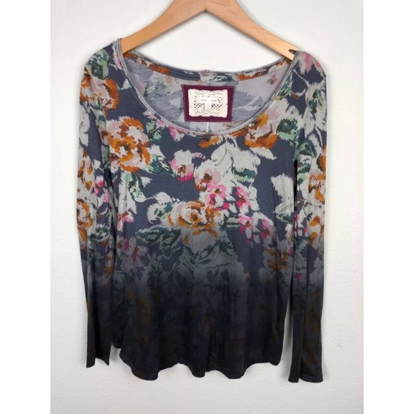 Anthropologie Tops - Pure + Good Myder Ombré Floral Top XS